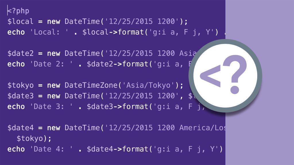 PHP DateTime Class and Functions